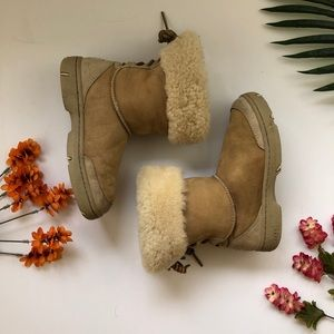 UGG hard sole lace up winter boots